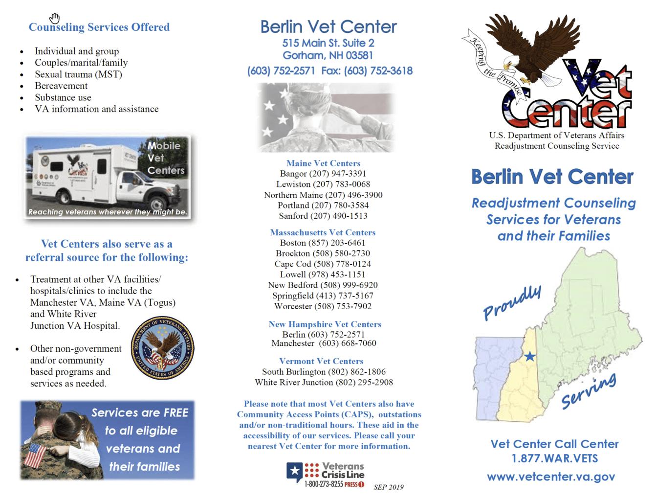 vet center Berlin NH